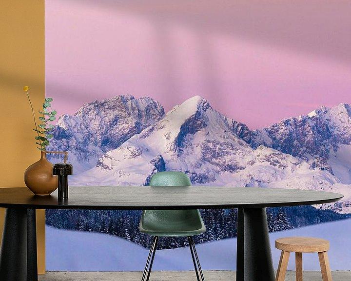 Beispiel fototapete: Das Wettersteingebirge im Wintermantel von Manfred Schmierl