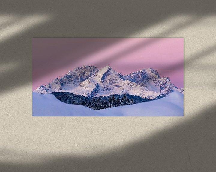 Beispiel: Das Wettersteingebirge im Wintermantel von Manfred Schmierl