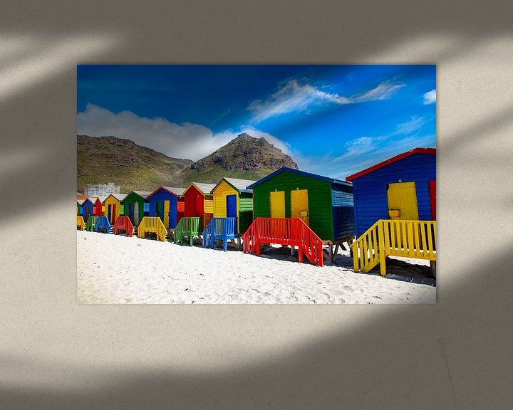 Sfeerimpressie: Kleurrijke Bo-kaap, Kaapstad, Zuid-Afrika van Willem Vernes