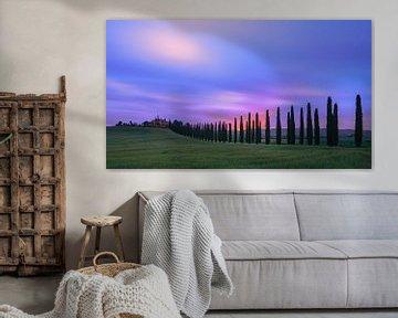 Zonsopkomst Agriturismo Poggio Covili, Toscane van Henk Meijer Photography