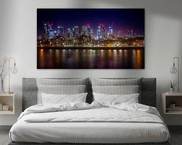 Canary Wharf in de nacht van Christa Thieme-Krus