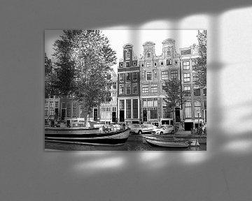 Pen Aquarel Tekening Herengracht 51-65 Amsterdam van Hendrik-Jan Kornelis