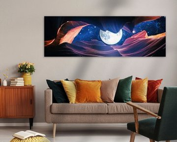 Grand Canyon mit Space & Full Moon Collage I - Panorama von Art Design Works