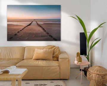 Oranjezon strand 1 van Andy Troy