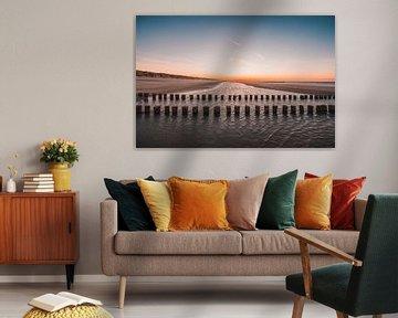 Oranjezon strand 2 van Andy Troy