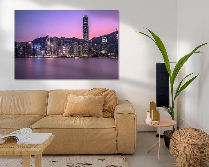 Sfeerimpressie: Zonsondergang in Hong Kong van Marcel Samson