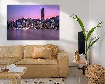 Zonsondergang in Hong Kong van Marcel Samson