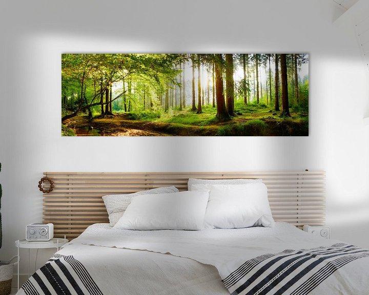 Beispiel: Idyllischer Wald bei Sonnenaufgang von Günter Albers