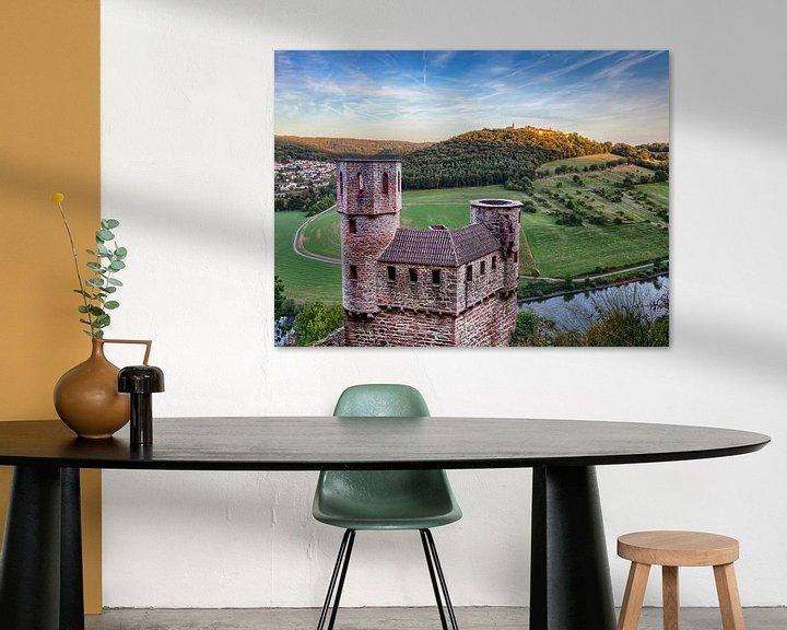 Beispiel: Blick zum Dilsberg über die Burg Schadeck hinweg von Uwe Ulrich Grün