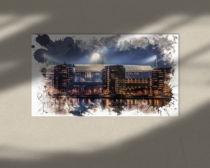 "Sfeerimpressie: Feyenoord ART Rotterdam Stadion ""De Kuip"" Luchtfoto van MS Fotografie   Marc van der Stelt"