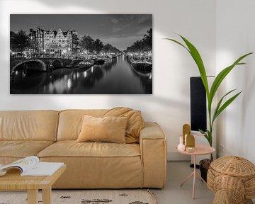 Een avond in Amsterdam  in Zwart-Wit van Henk Meijer Photography