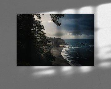 stormy calafornia coastline van Jasper Verolme