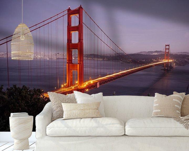 Sfeerimpressie behang: Golden Gate bridge van Jasper Verolme