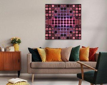 MELANGE of Purple-Coral-Rust von Pia Schneider