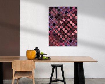 MELANGE of Purple-Coral-Rust-3 von Pia Schneider