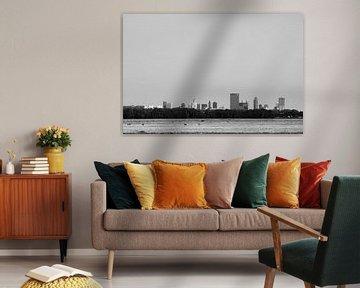 Skyline Rotterdam van Marcel Kool