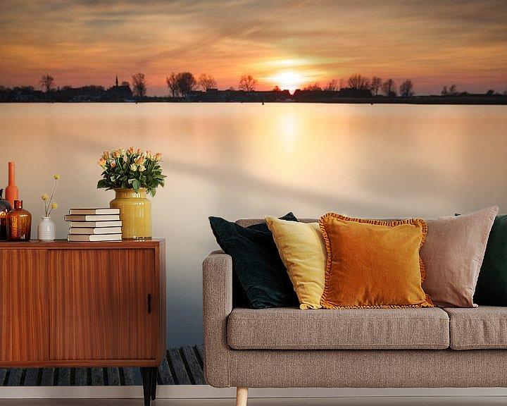 Sfeerimpressie behang: Zonsondergang steiger #03 van Gerhard Niezen Photography