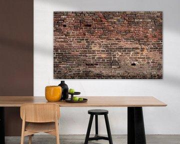 Baksteen oude muur Fotobehang 2 van Olivier Photography