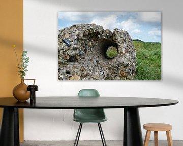 De Overblijfselen van Pointe Du Hoc van DoDiLa Foto's