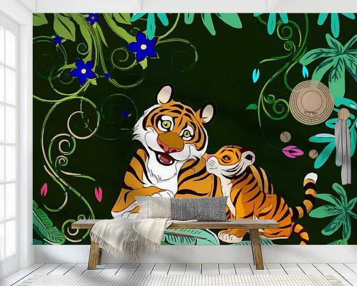 Beispiel fototapete: Happy Tigers von Gabriella David