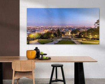Uitzicht vanaf Montmartre over Parijs van Werner Dieterich