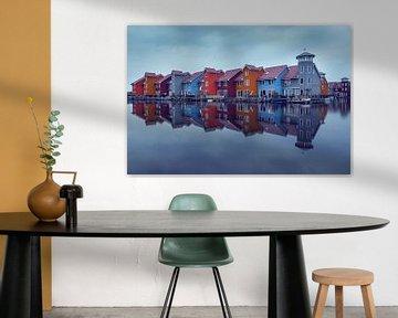 gekleurde huisjes in Groningen van Kristof Ven