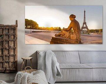 Trocadéro und der Eiffelturm in Paris von Werner Dieterich