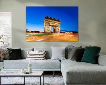 Arc de Triomphe am Place Charles-de-Gaulle in Paris von Werner Dieterich