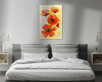 De rode bloemen van Natalie Bruns