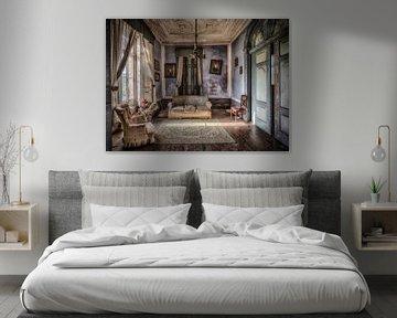 Wohnzimmer blau lila von Kelly van den Brande