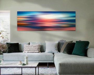 Abstract Sunset VI - Panoramic van Art Design Works