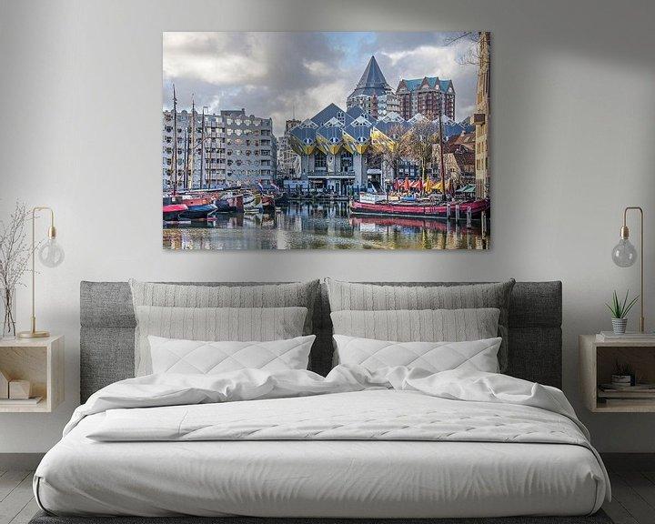 Sfeerimpressie: Kubuswoningen en Oude Haven van Frans Blok