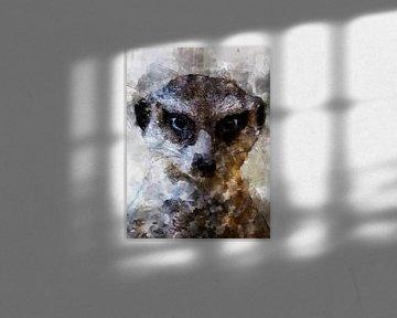 meerkatten van Printed Artings