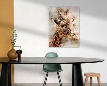 Giraffe von Printed Artings