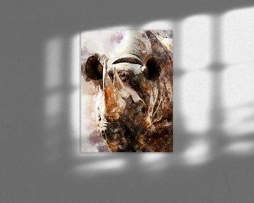 Nashorn von Printed Artings