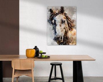 Pferd von Printed Artings