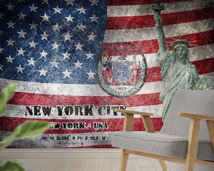 Beispiel fototapete: New York City von Printed Artings