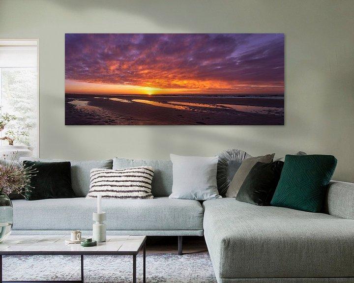 Beispiel: Bunter Sonnenuntergang von Peter Sneijders