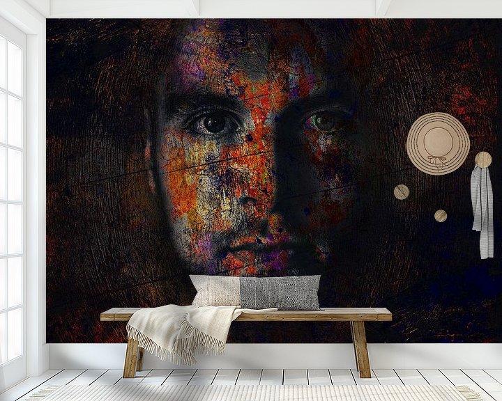 Beispiel fototapete: Digital Photo Art - Portrait of a Man mysterious dark von Art By Dominic