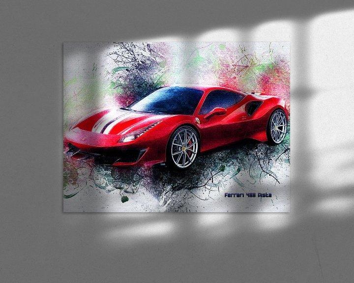 Beispiel: Ferrari von Printed Artings