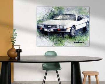 DeLorean von Printed Artings