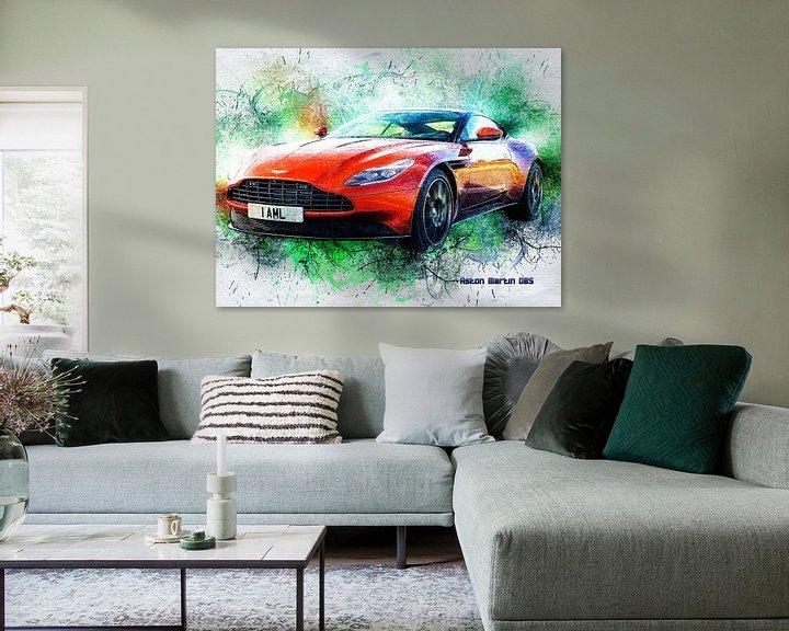 Beispiel: Aston Martin von Printed Artings