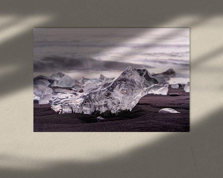 Beispiel: Eisblöcke im Abendlicht von Ralf Lehmann
