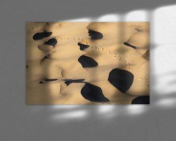 Sporen in de Taklaman woestijn van China van Simon Hazenberg