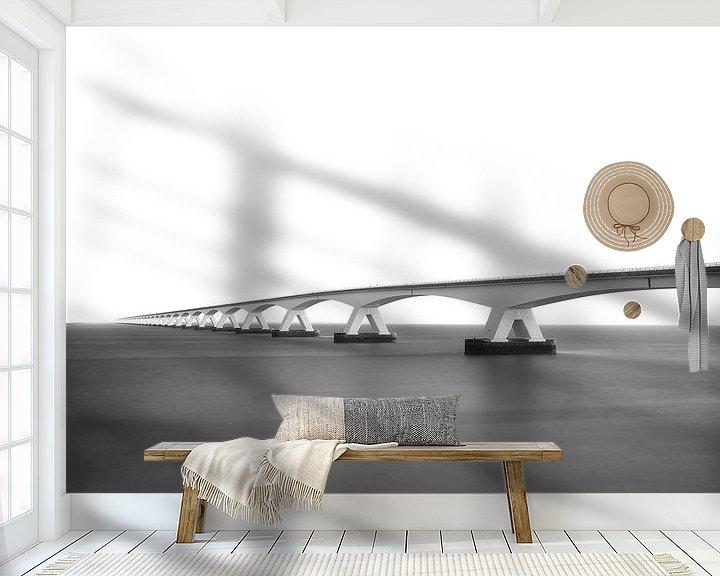 Sfeerimpressie behang: Zeelandbrug - Nederland van Fotografie Krist / Top Foto Vlaanderen