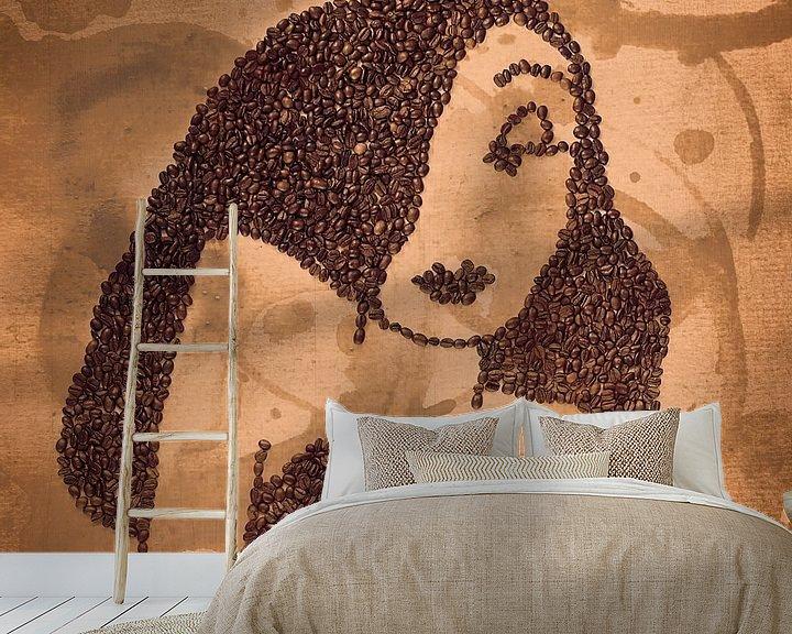 Beispiel fototapete: Coffee Mosaic of Jessica Rabbit von Elianne van Turennout