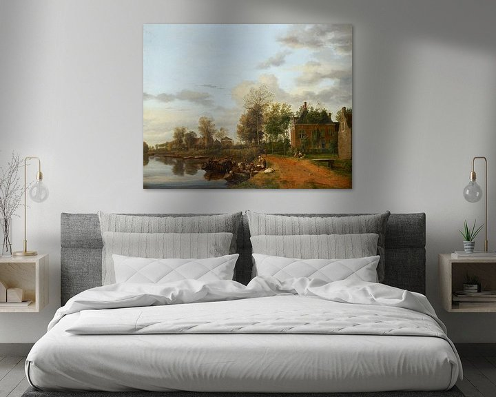 Beispiel: Landhaus an der Vliet in der Nähe von Delft, Jan van de Heyden