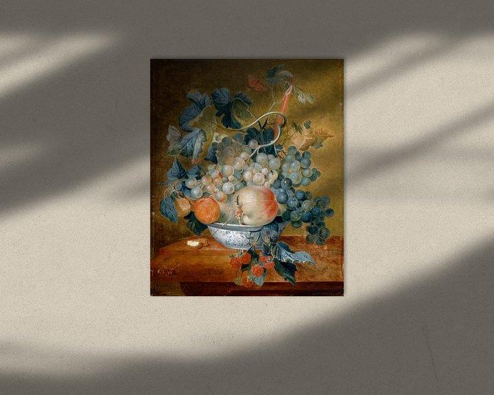 Beispiel: Eine Delft-Schale mit Früchten, Michiel van Huysum