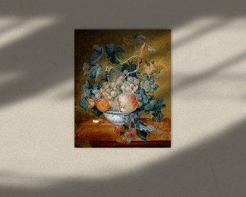 Eine Delft-Schale mit Früchten, Michiel van Huysum