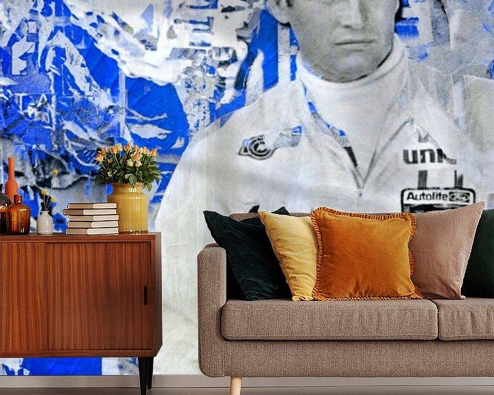 Beispiel fototapete: Paul Newman - Plakative Collage Blue von Felix von Altersheim